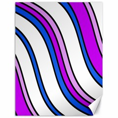 Purple Lines Canvas 18  X 24   by Valentinaart