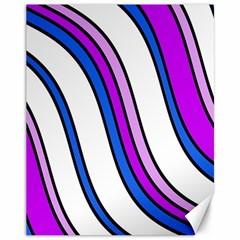 Purple Lines Canvas 11  X 14   by Valentinaart