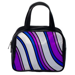 Purple Lines Classic Handbags (one Side) by Valentinaart