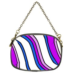 Purple Lines Chain Purses (one Side)  by Valentinaart