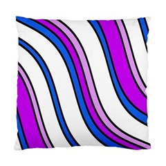Purple Lines Standard Cushion Case (two Sides) by Valentinaart