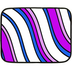 Purple Lines Double Sided Fleece Blanket (mini)  by Valentinaart
