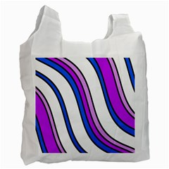 Purple Lines Recycle Bag (one Side) by Valentinaart