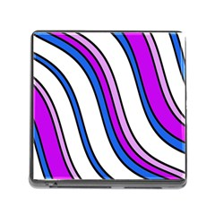 Purple Lines Memory Card Reader (square) by Valentinaart
