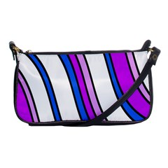 Purple Lines Shoulder Clutch Bags by Valentinaart