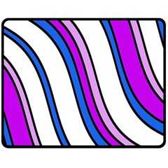 Purple Lines Fleece Blanket (medium)  by Valentinaart