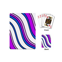 Purple Lines Playing Cards (mini)  by Valentinaart
