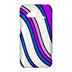 Purple Lines HTC Droid Incredible 4G LTE Hardshell Case