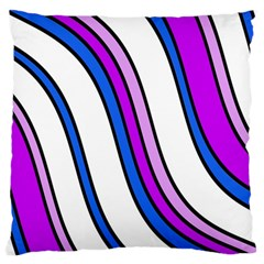 Purple Lines Large Cushion Case (one Side) by Valentinaart