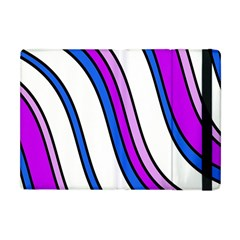 Purple Lines Apple Ipad Mini Flip Case by Valentinaart