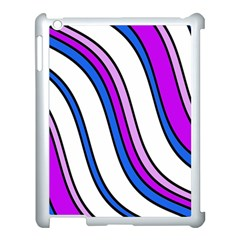 Purple Lines Apple Ipad 3/4 Case (white) by Valentinaart
