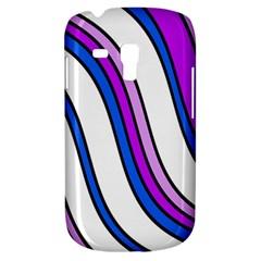 Purple Lines Samsung Galaxy S3 Mini I8190 Hardshell Case by Valentinaart