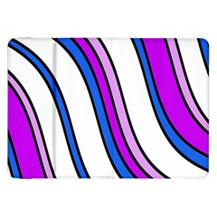 Purple Lines Samsung Galaxy Tab 8 9  P7300 Flip Case by Valentinaart