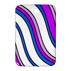 Purple Lines Samsung Galaxy Note 8 0 N5100 Hardshell Case  by Valentinaart