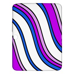 Purple Lines Samsung Galaxy Tab 3 (10 1 ) P5200 Hardshell Case  by Valentinaart