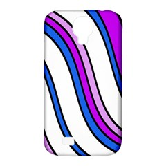Purple Lines Samsung Galaxy S4 Classic Hardshell Case (pc+silicone) by Valentinaart