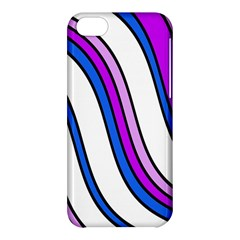 Purple Lines Apple Iphone 5c Hardshell Case by Valentinaart