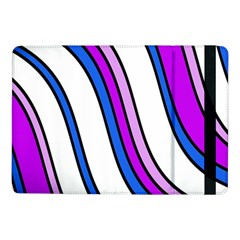 Purple Lines Samsung Galaxy Tab Pro 10 1  Flip Case by Valentinaart