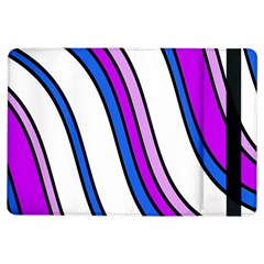 Purple Lines Ipad Air Flip by Valentinaart