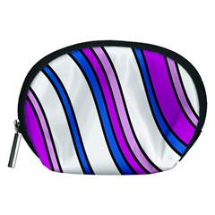 Purple Lines Accessory Pouches (medium)  by Valentinaart