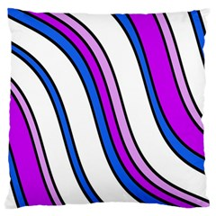 Purple Lines Standard Flano Cushion Case (two Sides) by Valentinaart