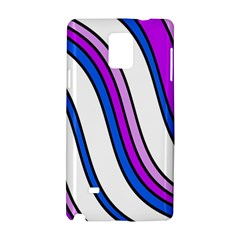 Purple Lines Samsung Galaxy Note 4 Hardshell Case by Valentinaart