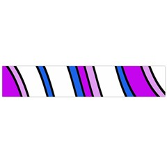 Purple Lines Flano Scarf (large) by Valentinaart
