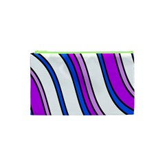 Purple Lines Cosmetic Bag (xs) by Valentinaart