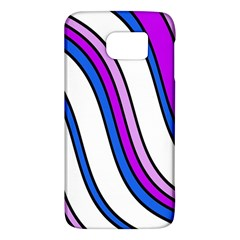 Purple Lines Galaxy S6 by Valentinaart