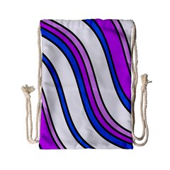 Purple Lines Drawstring Bag (small) by Valentinaart