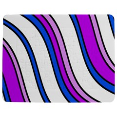 Purple Lines Jigsaw Puzzle Photo Stand (rectangular) by Valentinaart