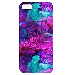 Melting In Purple Apple Iphone 5 Hardshell Case With Stand