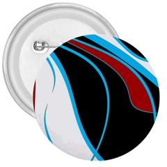 Blue, Red, Black And White Design 3  Buttons by Valentinaart