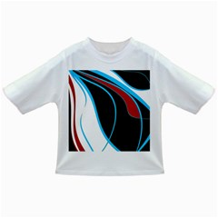 Blue, Red, Black And White Design Infant/toddler T Shirts by Valentinaart