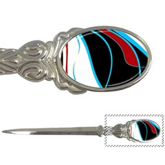 Blue, Red, Black And White Design Letter Openers by Valentinaart