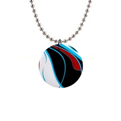 Blue, Red, Black And White Design Button Necklaces by Valentinaart