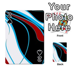 Blue, Red, Black And White Design Playing Cards 54 Designs  by Valentinaart