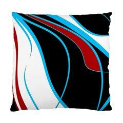 Blue, Red, Black And White Design Standard Cushion Case (two Sides) by Valentinaart