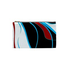 Blue, Red, Black And White Design Cosmetic Bag (small)  by Valentinaart