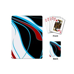 Blue, Red, Black And White Design Playing Cards (mini)  by Valentinaart