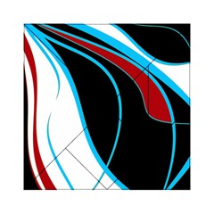 Blue, Red, Black And White Design Acrylic Tangram Puzzle (6  X 6 ) by Valentinaart
