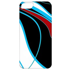 Blue, Red, Black And White Design Apple Iphone 5 Classic Hardshell Case by Valentinaart