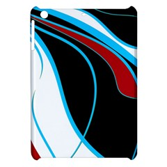 Blue, Red, Black And White Design Apple Ipad Mini Hardshell Case by Valentinaart