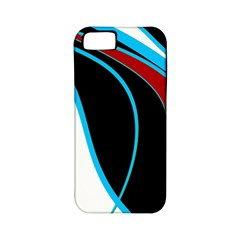 Blue, Red, Black And White Design Apple Iphone 5 Classic Hardshell Case (pc+silicone) by Valentinaart