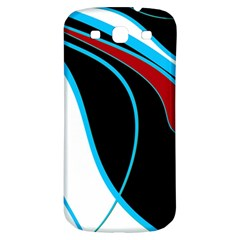Blue, Red, Black And White Design Samsung Galaxy S3 S Iii Classic Hardshell Back Case by Valentinaart