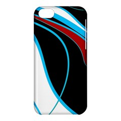 Blue, Red, Black And White Design Apple Iphone 5c Hardshell Case by Valentinaart