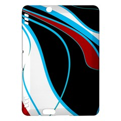 Blue, Red, Black And White Design Kindle Fire Hdx Hardshell Case by Valentinaart
