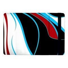Blue, Red, Black And White Design Samsung Galaxy Tab Pro 10 1  Flip Case by Valentinaart