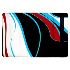 Blue, Red, Black And White Design Ipad Air Flip by Valentinaart