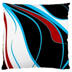Blue, Red, Black And White Design Standard Flano Cushion Case (one Side) by Valentinaart